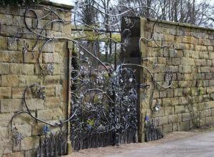 Alnwick Castle Garden Gate detail