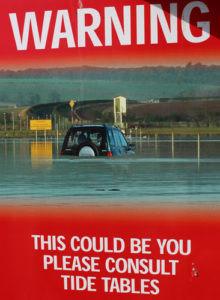 Holy Isle warning sign