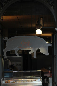 Borough Market pig says good morning!