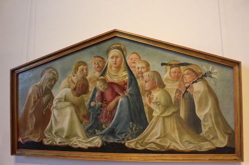 Madonna con il bambino, santi e angeli, Fillipo Lippi, 15thC