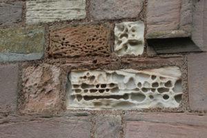 Lindisfarne chapel stone detail