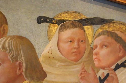 Detail, Madonna con il bambino, santi e angeli, Fillipo Lippi, 15thC