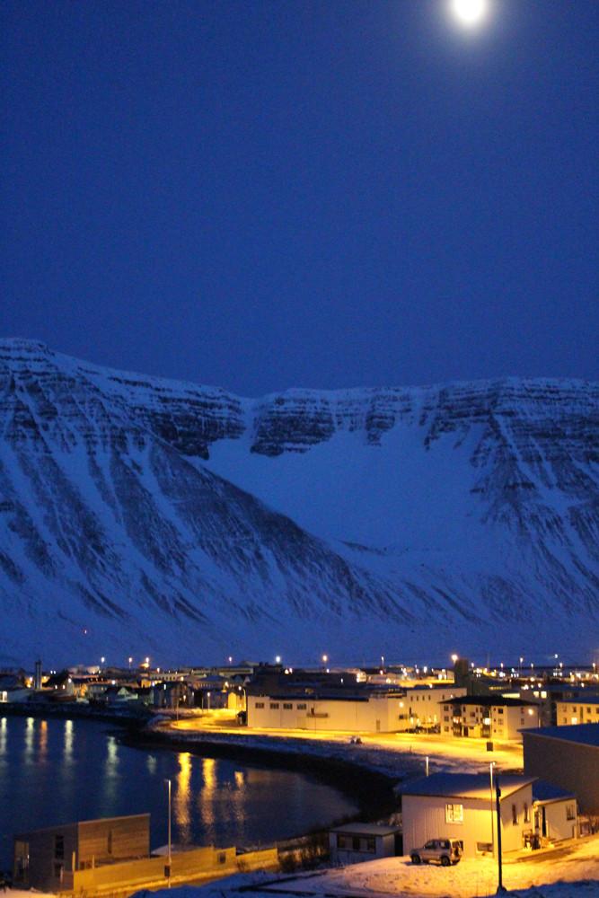 Isafjordur moonlight