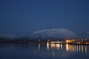 akureyri night fjord small