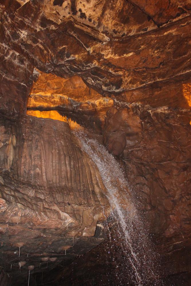 Underground Welsh waterfall
