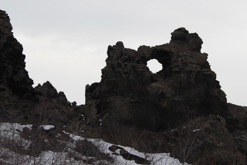 Icelandic lava tube