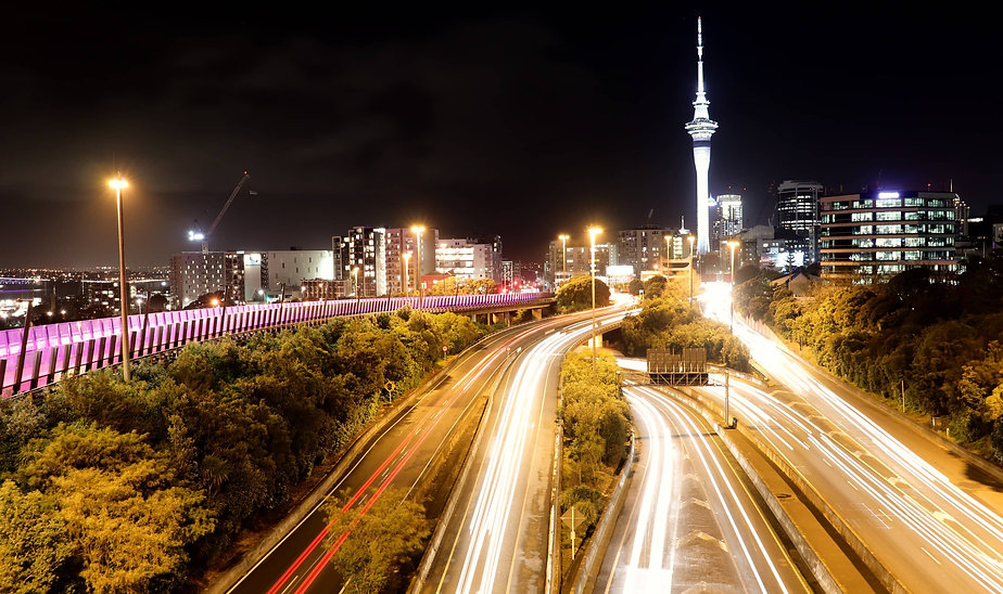 Auckland at night small