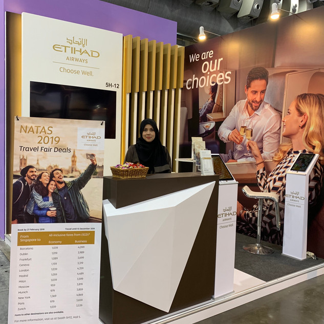Etihad Airways @ NATAS Travel, Singapore