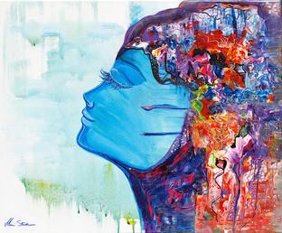 """Peaceful Mind"" Mixed media Art Print"