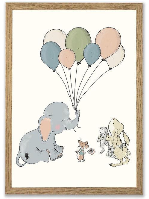 Elefant med ballon