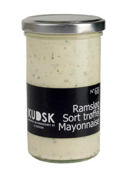 Ramsløg, sort trøffel mayonnaise