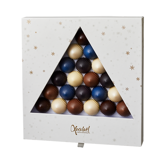 Fyldt chokolade Plisse star box