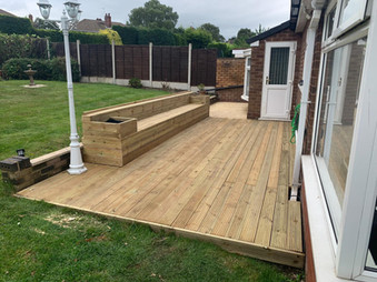 Patio Decking and Planters
