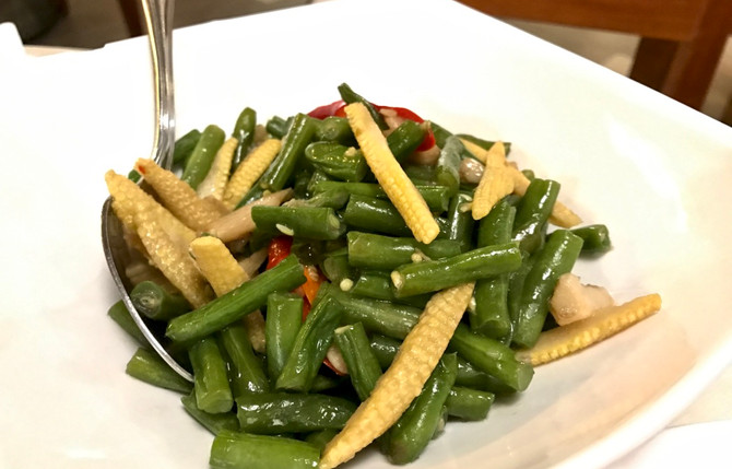 Long Bean, Corn and Chili Stir-Fried