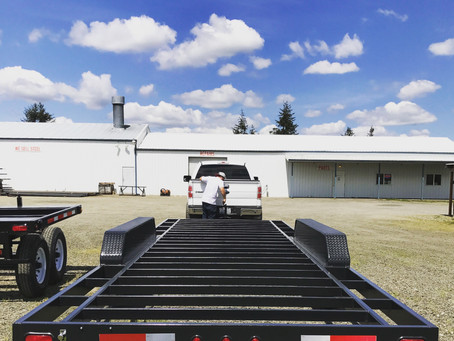 Tiny House Trailer Heads to The Girl Garage