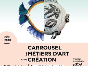 Salon Carrousel des métiers d'art et de création Edition digitale Déc 2020