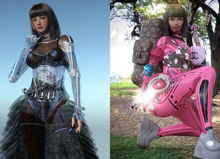 #RUBYGLOOM: AI虛擬與真實的時裝創作者