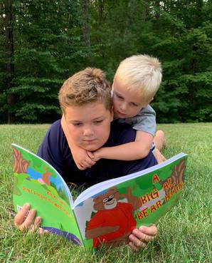 Finn and Paddy reading.jpg