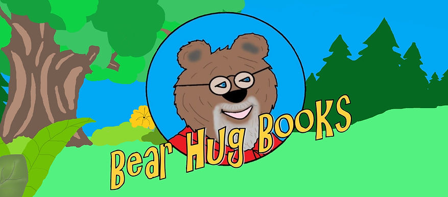 Bear Hug Books Logo banner with backgrou