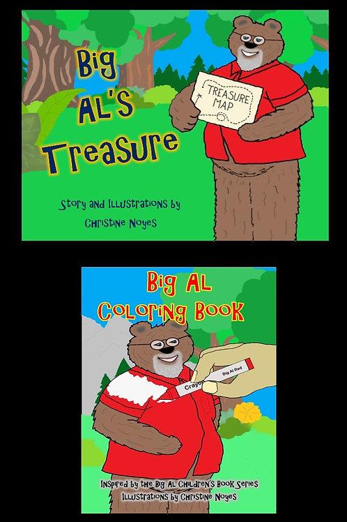 Big Al Two Pack: Big Al's Treasure and Coloring Book
