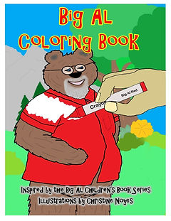 Coloring book front cover with bottom te