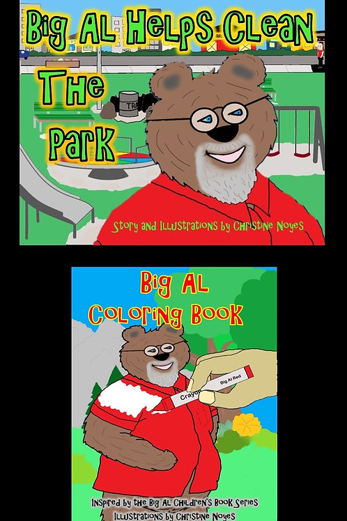 Big Al Two-Pack: Cleans Park and Coloring Book