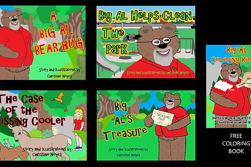 Big Al Four-Pack Bonus with Free Big Al Coloring Book