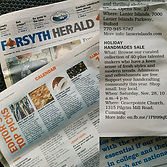Handmades Sale Event featured in the Forsyth Herald 2015