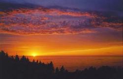 trailhead sunset