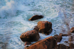 cliffs below lightened