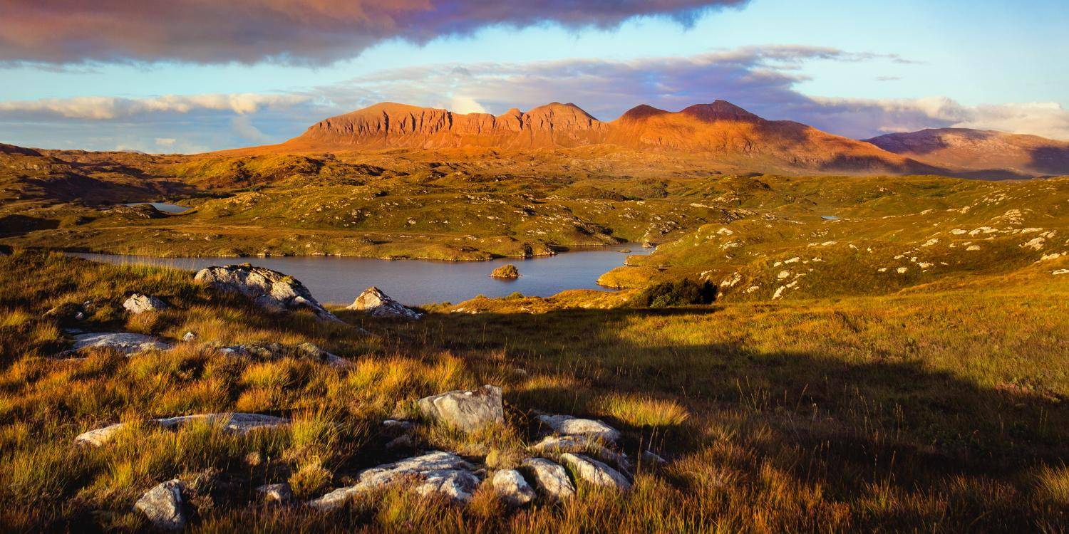 Assynt Mountains by Lochinver Landscapes
