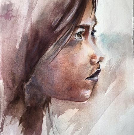 Visage-jeune fille