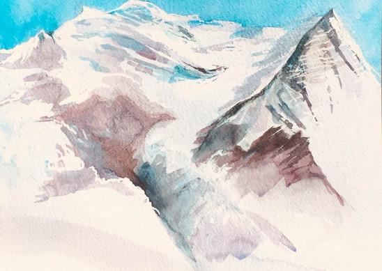 Mont Blanc - Vue de Suisse | Jozefa peintures