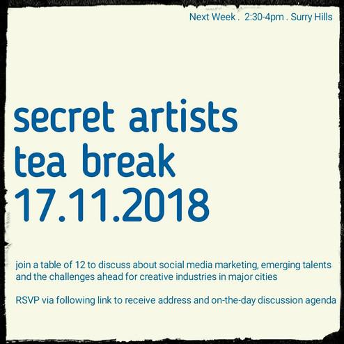 Secret Artist Tea Break 17.11.18 FULL
