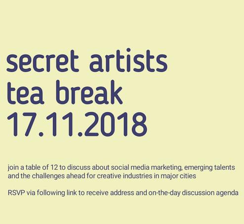 What is Secret Artist Tea Break?