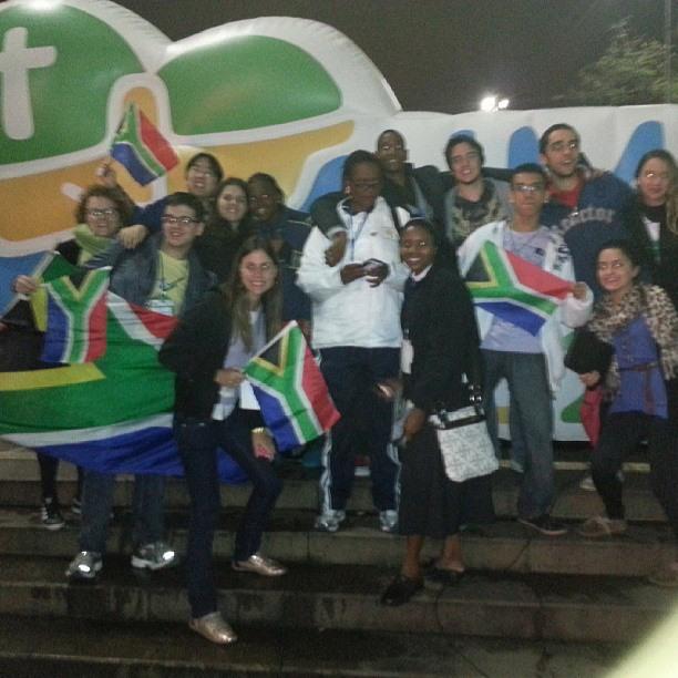 Chatunai com os peregrinos Africanos