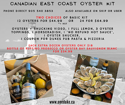 Duke Canadian oyster special kits