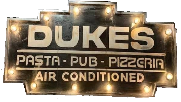 dukes outdoor sign
