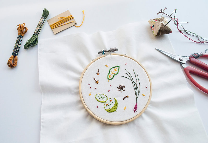HERBS & SPICES EMBROIDERY WORKSHOP WITH MOMSHOO - Sat 26 Sept 2pm
