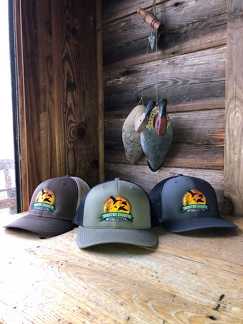Richardson Hats: Grey, olive, or brown.