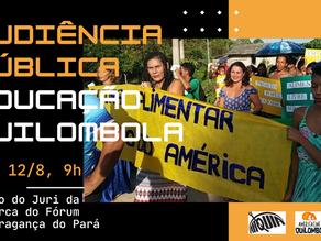"""Educação quilombola do """"América"""" é tema de audiência Pública em Bragança do Pará"""