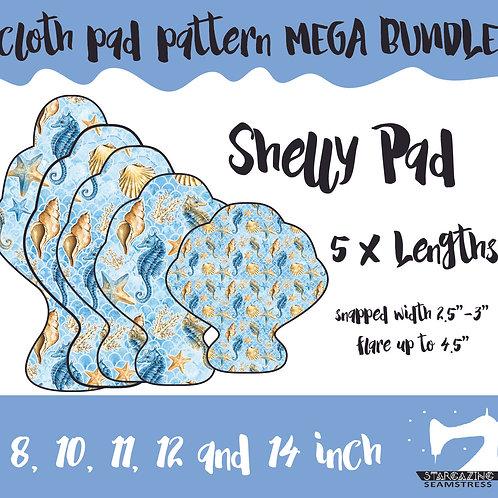 MEGA BUNDLE 5 X Shelly Cloth Pad Patterns, Sea shell CSP Pattern
