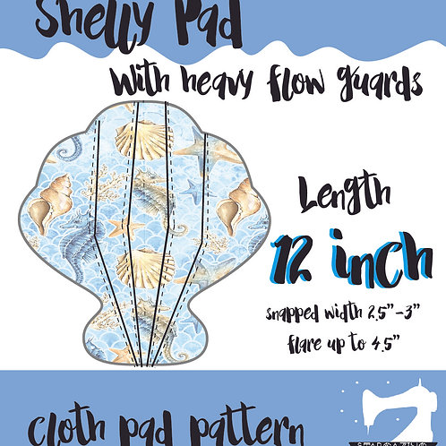 12inch Shelly Guards Cloth Pad Pattern, Sewing tutorial, Sea shell CSP