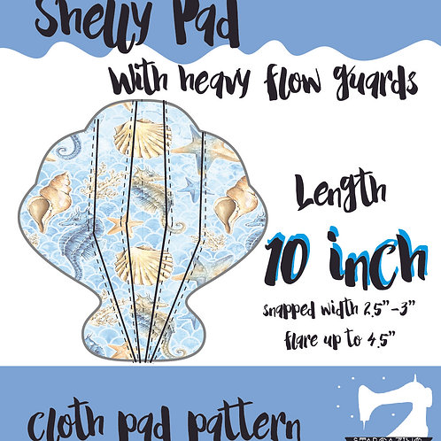 10inch Shelly Guards Cloth Pad Pattern, Sewing tutorial, Sea shell CSP