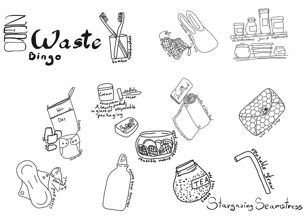 zero waste bingo by stargazing seamstress.JPG
