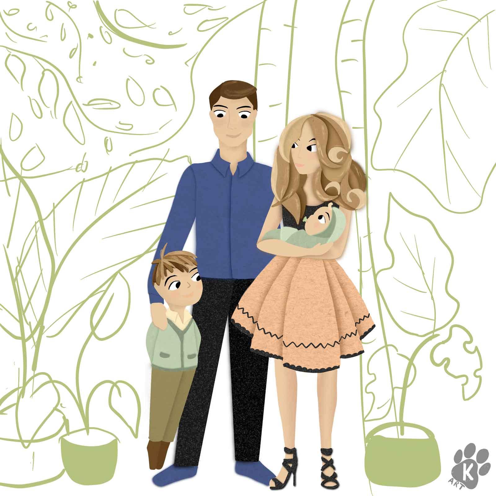 family portrait comission