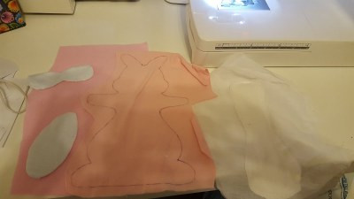 Easter Bunny Cloth Pad Pattern and Sewing Tutorial