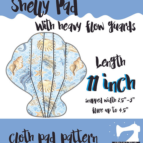 11inch Shelly Guards Cloth Pad Pattern, Sewing tutorial, Sea shell CSP