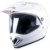 Tuzo V370 Adventure Helmet Gloss White