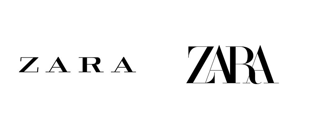 old zara logo vs new zara logo